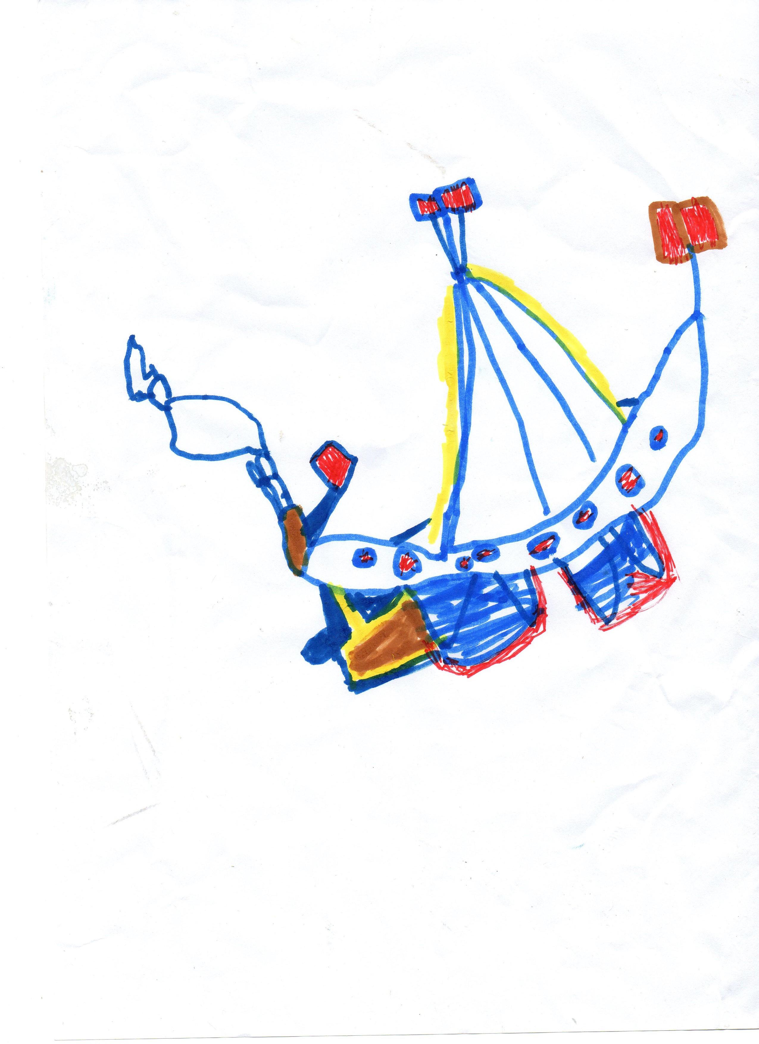 Le bateau vu par Thibault