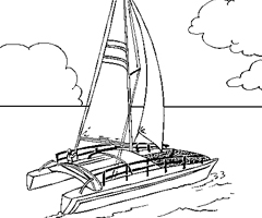 coloriage-catamaran